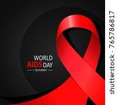 world aids day black poster   Shutterstock .eps vector #765786817