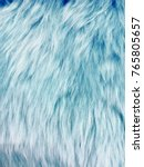 Blue Synthetic Fur Effect...