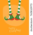 merry christmas greeting card...   Shutterstock .eps vector #765810973