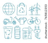 collection of ecology icons in... | Shutterstock .eps vector #765812353