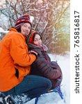 christmas background   winter...   Shutterstock . vector #765816817