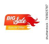 hot sale banner. this weekend...   Shutterstock .eps vector #765825787