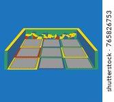 isolated trampoline set for... | Shutterstock .eps vector #765826753