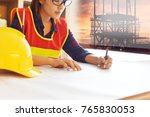 professional safety engineer  ... | Shutterstock . vector #765830053