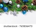 decorative background with fir... | Shutterstock . vector #765836473