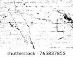 grunge black and white pattern. ... | Shutterstock . vector #765837853