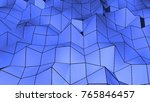 abstract polygonal geometric... | Shutterstock . vector #765846457