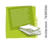 page layout design - incl. stack of paper icon (contains transparency) - stock vector