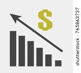 vector image of a chart of... | Shutterstock .eps vector #765863737