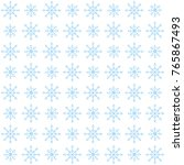 winter seamless pattern with... | Shutterstock .eps vector #765867493