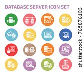 database server icon set vector | Shutterstock .eps vector #765876103