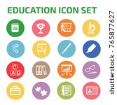 education icon set vector | Shutterstock .eps vector #765877627