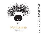 logotype porcupine  logo vector ... | Shutterstock .eps vector #765879367