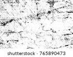 grunge black and white pattern. ... | Shutterstock . vector #765890473