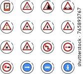 line vector icon set   parking... | Shutterstock .eps vector #765893767