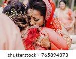 stunning indian bride dressed... | Shutterstock . vector #765894373