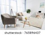 cozy living room interior... | Shutterstock . vector #765896437