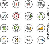 line vector icon set   passport ... | Shutterstock .eps vector #765898417