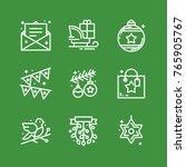 christmas icons set | Shutterstock .eps vector #765905767