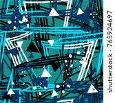 abstract seamless grunge urban... | Shutterstock .eps vector #765924697