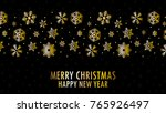 gold snow pattern vector. free... | Shutterstock .eps vector #765926497