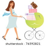 Attractive Pregnant Woman With...