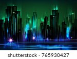 night city background  with... | Shutterstock . vector #765930427