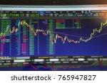 double exposure. technical... | Shutterstock . vector #765947827