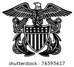 Navy Officer Crest   Retro Ad...