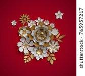 3d render  floral bouquet ... | Shutterstock . vector #765957217
