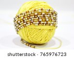 beads on the white background.... | Shutterstock . vector #765976723