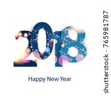 happy new year 2018 | Shutterstock .eps vector #765981787