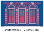 classic windows. building old... | Shutterstock .eps vector #765990403