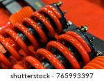 red shock up for car. | Shutterstock . vector #765993397