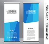 roll up business brochure flyer ...   Shutterstock .eps vector #765994057