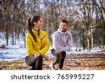 cute active fitness girl in... | Shutterstock . vector #765995227