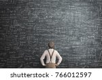 man think how to solve a... | Shutterstock . vector #766012597