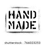 spray paint graffiti stencil '... | Shutterstock .eps vector #766023253