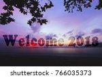 creative transparent text... | Shutterstock . vector #766035373