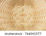 top view weaving basket... | Shutterstock . vector #766041577