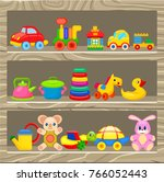 small cars  soft and plastic... | Shutterstock . vector #766052443