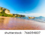 beautiful ao nang beach  krabi  ... | Shutterstock . vector #766054837