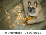 background new year 2018... | Shutterstock . vector #766070893