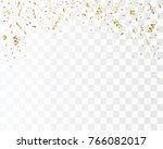 Golden Confetti Isolated....