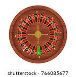 casino roulette wheel isolated. ...   Shutterstock . vector #766085677