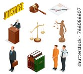 isometric law and justice.... | Shutterstock .eps vector #766086607