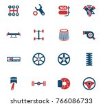 auto tuning vector icons for... | Shutterstock .eps vector #766086733