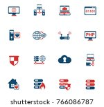 server color vector icons for... | Shutterstock .eps vector #766086787