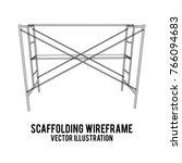 scaffolding construction... | Shutterstock .eps vector #766094683