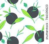 elegant floral seamless pattern....   Shutterstock .eps vector #766100623